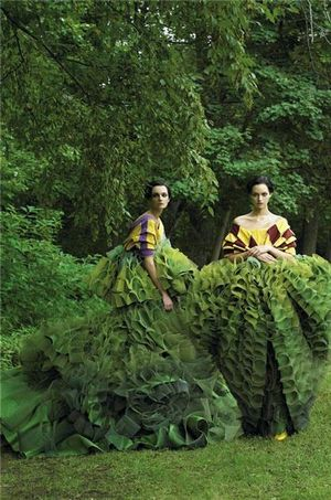 Green ruffles cropped