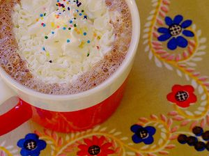 Hot chocolate with sprinkles