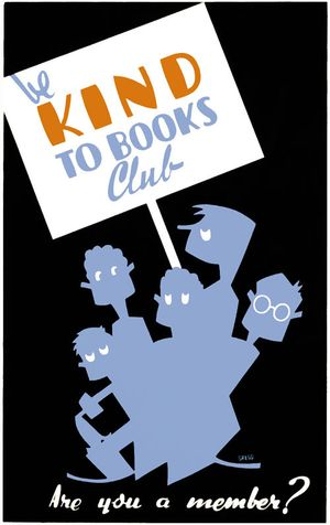 Kind-to-books-wpa-poster