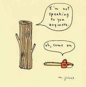 Marc johns log chainsaw