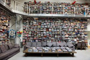 Karl lagerfelds bookshelves