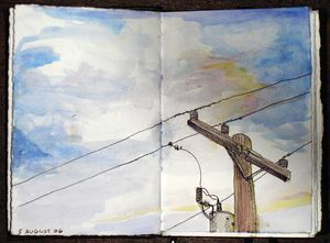 Elizabeth perry telephone wires