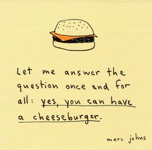 Marc johns cheeseburget