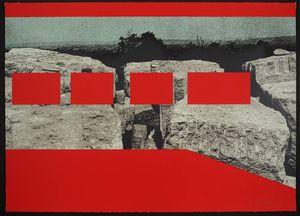 Menashe-Kadishman-Red-Rocks-1974