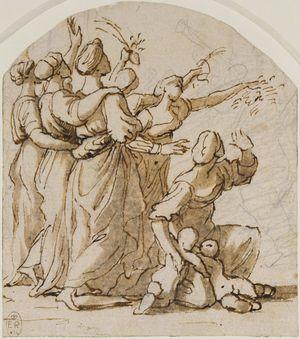 Poussin-Three-Women-Linking-Arms