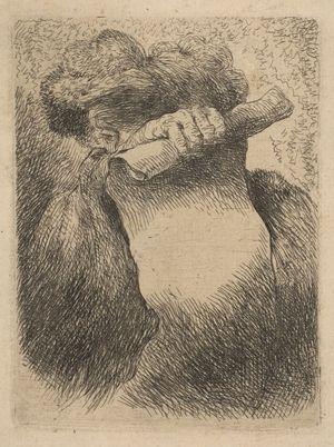 Castiglione-Giovanni-Benedetto-Man-Holding-Scroll-c1645-50-etching