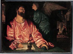 Savoldo-Giovanni-Girolamo-St-Matthew-&-Angel-c1534-Met