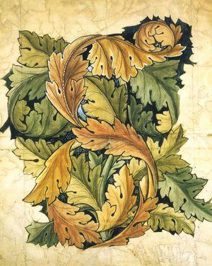 Morris-William-Wallpaper-Acanthus-design-1874-V&A