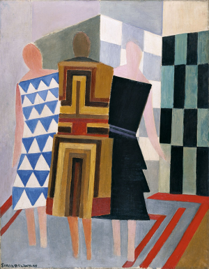 Delaunay-Sonia-Simultaneous-Dresses-1924-oil-on-canvas-MuseoThyssen-Bornemisza-Ukrainian-French