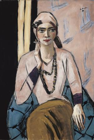 Beckmann-Max-Quappi-Pink-Sweater-1932-34-canvas-Museo-Thyssen-Bornemisza