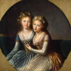 Vigée-Le-Brun-Élisabeth-Portrait-of-daughters-of-Emperor-Paul-I-1796-canvas-Hermitage-France