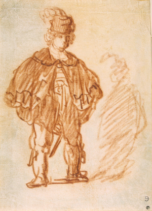 Rembrandt-Actor-1630-31-drawing-Hermitage