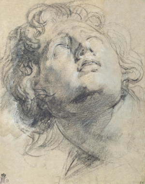 Van-Dyck-Anthony-attributed-Head-Youth-c1615-drawing-Hermitage