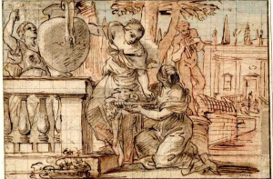 Cortese-Guglielmo-Three-woman-in-a-garden-before-1679-drawing-British-Museum-c