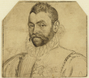 Goltzius-Hendrik-drawing-Portrait-of-unknown-man-c1583-85-drawing-on-vellum-Teylers-Museum-Haarlem