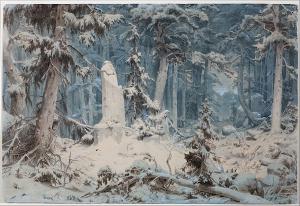Achenbach-Andreas-Snowy-Forest-1835-watercolor-Museum-Kunstpalast-Düsseldorf