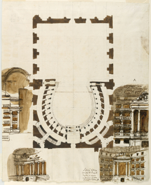 Barberi-Giuseppe-Ground-plan-and-box-elevations-for-theater-Perugia-c1778-wash-drawing-Cooper-Hewitt-Smithsonian-Design-Museum