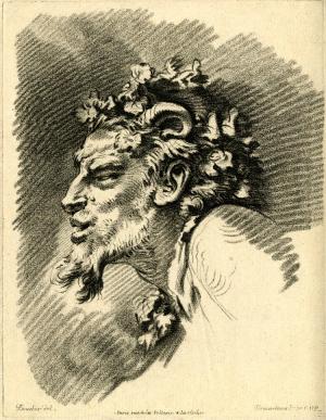 Demarteau-Gilles-after-François-Boucher-Head-of-Satyr-c1756-76-intaglio-British-Museum