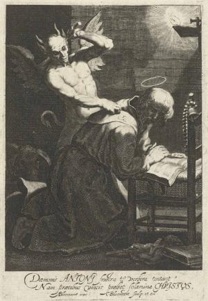 Bloemaert-Cornelis-after-Abraham-Bloemaert-St-Anthony-tormented-by-demon-c1620-30-engraving-Rijksmuseum
