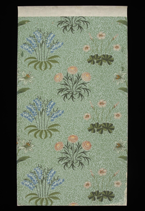 Wallpaper-England-by-William-Morris-Lily-1873-block-printed-Victoria-&-Albert-Museum