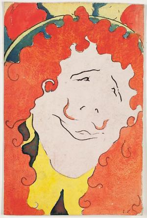Vuillard-Édouard-Coquelin-Cadet-in-Character-1894-gouache-on-paper-Art-Institute-of-Chicago