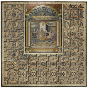Rome-mosaic-Dining-room-pavement-Dionysus-Hercules-maenad-from-Antioch-3rd-century-AD-Princeton-University-Art-Museum