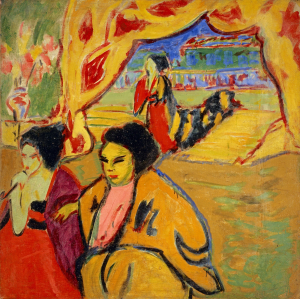 Kirchner-Ernst-Ludwig-Japanese-Theater-1909-oil-on-canvas-National-Galleries-of-Scotland