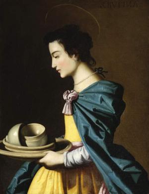Zurbarán-Francisco-de-St-Rufina-before-1664-oil-on-canvas-Fitzwilliam-Museum-Cambridge