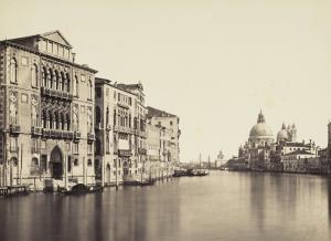 Ponti-Carlo-Venice-Distant-view-of-Santa-Maria-della-Salute-c1850-albumen-print-National-Galleries-of-Scotland