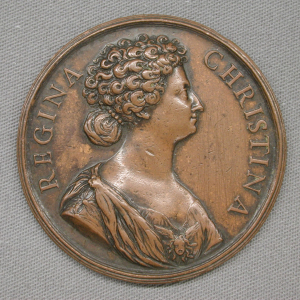 Hamerani-Alberto-attributed-Medal-to-commemorate-the-conversion-of-Queen-Christina-to-Roman-Catholicism-1654-bronze-Metropolitan-Museum-of-Art-New-York-square