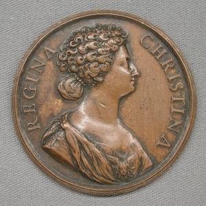 Hamerani-Alberto-attributed-Medal-to-commemorate-the-conversion-of-Queen-Christina-to-Roman-Catholicism-1654-bronze-Metropolitan-Museum-of-Art-New-York-square