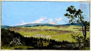 Girardet-Christian-Samuel-View-of-Chaux-de-fonds-Switzerland-1788-hand-colored-etching-British-Museum-c
