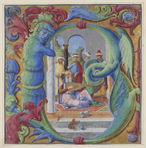 Girolamo-dai-Libri-Initial-B-with-King-David-1480s