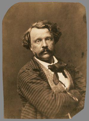 Nadar-Félix-Self-portrait-in-striped-coat-c1856-58