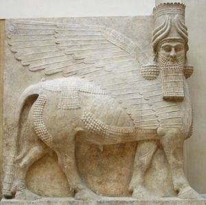 0Assyria-Winged-bull-human-head-c715-BC