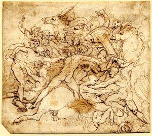 Perino-del-Vaga-Battle-Scene-16c-drawing-BM