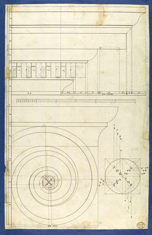Chippendale-Thomas-volute-of-Ionic-Order-c1753-54-drawing-Met