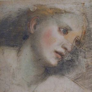 Barocci-Federico-style-of-Head-of-Woman-16c-drawing-Ashmolean-Square