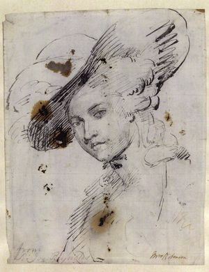 Reynolds-Joshua-Mary-Robinson-mistress-Geo-IV-c1782-drawing-NPG