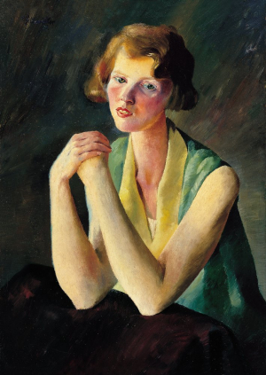 Felixmüller-Conrad-Portrait-of-a-Scottish-Girl-1929-canvas-verso-Museo-Thyssen-Bornemisza