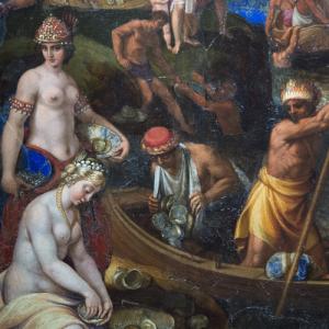 Tempesta-Antonio-Pearl-fishers-1635-oil-on-lapis-lazuli-Louvre-detail-square