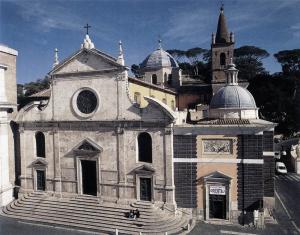 Pontelli-Baccio-Façade-1472-80-Santa-Maria-del-Popolo-Rome