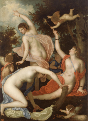 Padovanino-Graces-and-Cupids-c1630-35-canvas-Hermitage-Venice