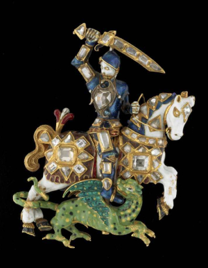 Great-George-of-the-Order-of-the-Garter-1628-29-enameled-gold-diamonds-British-Museum
