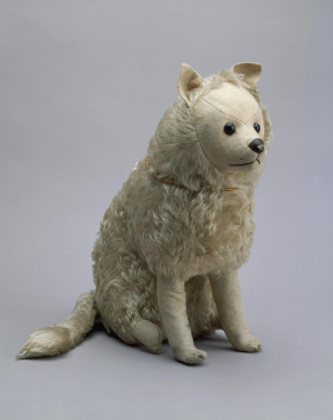 Toy-dog-c1900-Russia-wool-glass-Hermitage