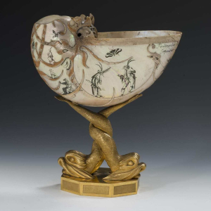 Goblet-bronze-dolphins-engraved-shell-17th-century-Netherlands-Hermitage