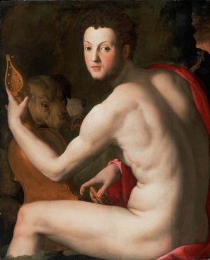 Bronzino-Agnolo-Portrait-of-Cosimo-I-de'-Medici-as-Orpheus-c1537-39-oil-on-panel-Philadelphia-Museum-of-Art