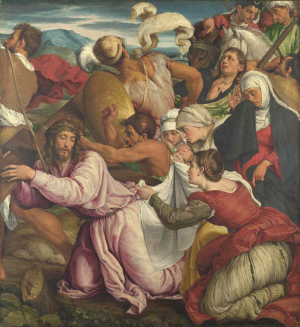 Bassano-Jacopo-The-Way-to-Calvary-before-1597-canvas-National-Gallery-London