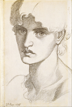 Rossetti-Dante-Gabriel-Portrait-head-of-Jane-Morris-1875-drawing-Art-Gallery-of-South-Australia-Adelaide