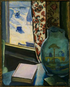 Halpert-Samuel-Through-the-window-1918-oil-on-canvas-Phillips-Collection-Washington-DC